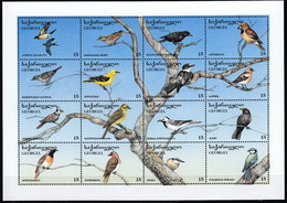 Georgia 1996 (MNH) (Mi 152-167) (AVE118) - Barn Swallow....European Crested Tit...Eurasian Blue Tit. - Verzamelingen, Voorwerpen & Reeksen
