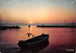 THONON LES BAINS Coucher De Soleil Sur Le Port 26(scan Recto-verso) MA2071 - Thonon-les-Bains