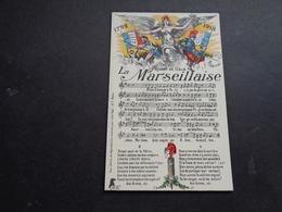 Carte ( 940 ) Fantaisie  Fantasie - Thème :  Lied  Chant Française -  Soldat   Soldaat - Musique