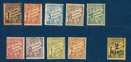 "Tunisie Taxe YT 26 à 34 + 36 "" Type Duval "" 1901-03 Neuf* - Postage Due"