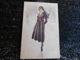 Femme En Noir, Illustrateur à Identifier, 1921    (S8) - Andere Illustrators