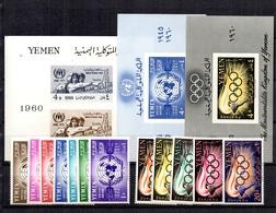 Yemen Belle Petite Collection Neufs ** MNH 1960/1962. Bonnes Valeurs. TB. A Saisir! - Yemen