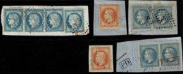 A10b- Oblit Ancre Noire  Et Bleue - Marcophily (detached Stamps)