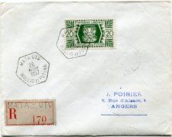 WALLIS-ET-FUTUNA LETTRE RECOMMANDEE DEPART MATA-UTU 26 NOV 1957 WALLIS ET FUTUNA POUR LA FRANCE - Covers & Documents