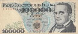 Billet 100000 Zlotych 1990  Pologne - Polen