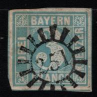 1850 / 58 Freimarke Gest. O Mi DE-BY 2II - Bayern