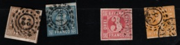 1862 Bayern Freimarken Gest. O Mi 8 - 11 Yt DE-BY 9 - 12  Sg DE-BY 21 - 28 Siehe Scan - Bayern