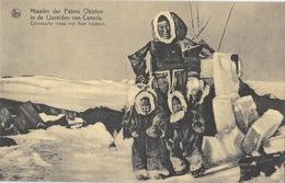 Missions - In De Ijsvelden Van Canada. Eskimosche Vrouw Met Haar Kinderen (femme Esquimau Avec Ses Enfants) - Missionen