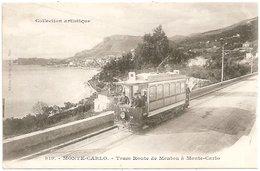 MONTE-CARLO - LE TRAM ROUTE DE MENTON A MONTE-CARLO - Monte-Carlo