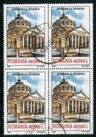 ROMANIA 2003 Bucarest Buildings 46500 L. Used Block Of 4.  Michel 5721 - 1948-.... Repúblicas
