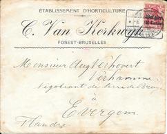 Lettre Belgique Zone Des étapes 1915 Censure Censor Geoffnet Examiner Censura War - Marcophilie (Lettres)