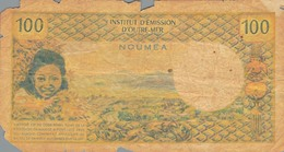 J25 - Billet 100 Francs - Institut D'Émission D'Outre-Mer - NOUMÉA - Nouméa (Nuova Caledonia 1873-1985)