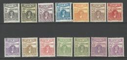 """Tunisie Taxe YT 37 à 50 """" Déesse Carthaginoise """" 1923-29 Neuf* - Segnatasse"""
