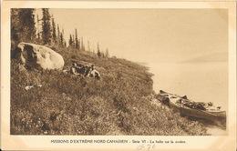 Missions Extrême Nord Canadien, Série VI - La Halte Sur La Rivières - Carte Non Circulée - Missionen
