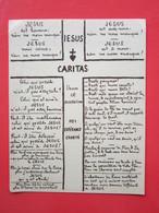 """JESUS CARITAS, éditions De La """" Revue Des Jeunes """" - Image Pieuse Religieuse - Imágenes Religiosas"""