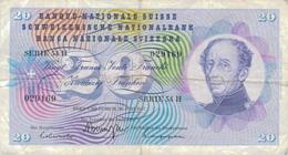 J25 - Billet 20 Francs Suisse 1967 - Switzerland