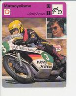 Dieter Braun Fiche Motocyclisme Sport FICH-Moto-2 - Sports
