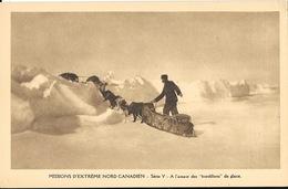 Missions Extrême Nord Canadien, Série V - A L'assaut Des Mordillons De Glace En Traineau - Carte Non Circulée - Missionen