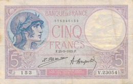 J25 - Billet 5 Francs Violet - 1925 - 1871-1952 Anciens Francs Circulés Au XXème