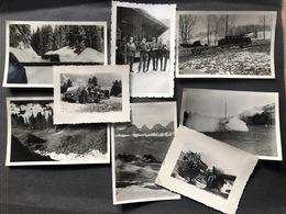 Lot 8 Kleinbild Privataufnahmen Militärgruppe Im Toggenburg Churfirsten Militärfahrzeuge - War, Military