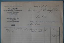 FACTURES 94 VAL-DE-MARNE CACHAN MANUFACTURE DE CHAUSSURES JOUIN RUE GUICHARD ANNEE 1932 - Textile & Vestimentaire