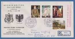 GREAT BRITAIN 1969 GERMAN BRITISH CULTURE WEEK DORTMUND  ENVELOPE 4 JUNE 1969 SG 771-774 - 1952-.... (Elizabeth II)