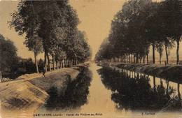 Dampierre Canal Du Rhône Au Rhin Péniche Péniches Toilée Colorisée - Dampierre