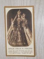 Santino Effigie Della B. Vergine Venerata Nella Chiesa Dei P.P. Carmelitani In Bergamo - Devotion Images