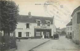 Rare Cachet Ovale De L'Hopital Auxiliaire De Royaumont N° 301 ?- Secours Aux Blessés FM - Carte De BAILLON 95 - Poststempel (Briefe)