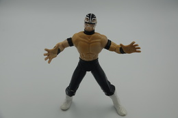 Vintage ACTION FIGURE : WRESTLER:  Rey Mysterio -  WCW 1999 - Original Toy Biz. Inc - Wrestling Smash And Slam - Action Man