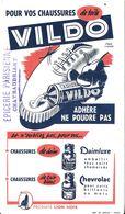 BUVARD BLOTTING PAPER PRODUIT ENTRETIEN CHAUSSURES VILDO  CACHET COMMERCE ÉPICERIE PARISIENNE CHATEAUBRIANT - Scarpe