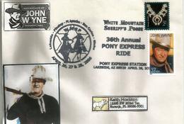 Hommage à John Wayne,White Mountain Sheriff's ,Lakeside, Arizona., Lettre Adressée En Floride - Cinema