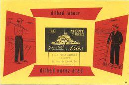 BUVARD BLOTTING PAPER VÊTEMENTS LE MONT SAINT MICHEL   CACHET COMMERCE CHATEAUBRIANT - Textile & Vestimentaire
