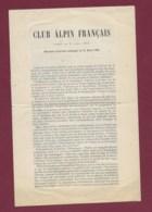 290120 - LIVRET SPORT Club Alpin Français - Les Alpes 1875 E CEZANNE Président  Liste Des élus - Alpinisme Montagne - Sports