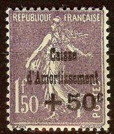 SEMEUSE N°268 CAISSE D'AMORTISSEMENT NEUF Avec GOMME** Cote 200 Euro - Caisse D'Amortissement