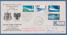 GREAT BRITAIN 1969 GERMAN BRITISH CULTURE WEEK DORTMUND FIELDPOST REGISTERED ENVELOPE 6 JUNE 1969 - 1952-.... (Elizabeth II)