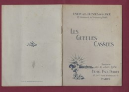 290120 - Militaria GUERRE 1914 18 - GUEULES CASSEES Soirée 1924 Hôtel Paul Poiret Union Blessé De La Face Colonel Picot - 1914-18