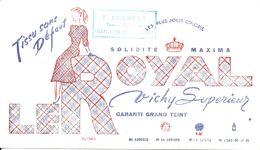 BUVARD BLOTTING PAPER VÊTEMENTS TISSUS LE ROYAL  CACHET COMMERCE  CHATEAUBRIANT - Textile & Vestimentaire