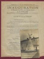 290120 - CARTE PHOTO Et Convocation Inauguration 1923 Monument Aux Morts Grande Guerre VILLENEUVE SUR LOT J MORILLON - Villeneuve Sur Lot