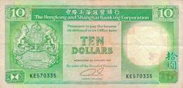 J25 - Billet 10 Dollar HONG-KONG - Hong Kong