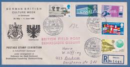 GREAT BRITAIN 1969 GERMAN BRITISH CULTURE WEEK DORTMUND FIELDPOST REGISTERED ENVELOPE 6 JUNE 1969 SG 791-5 - Briefe U. Dokumente