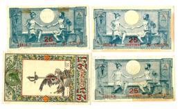 1918 // PYRENEES-ORIENTALES // SYNDICATS COMMERCIAUX // 4 X 25 Centimes - Bons & Nécessité