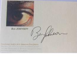 CP - Ben JOHNSON - Signé / Hand Signed / Dédicace Authentique / Autographe - Athlétisme