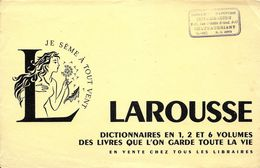 BUVARD BLOTTING PAPER DICTIONNAIRE LAROUSSE CACHET COMMERCE PAPETERIE A CHATEAUBRIANT - Papeterie