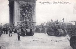75 - PARIS - 14 Juillet 1919 - Fetes De La Victoire - Les Chars D Assaut - Tanks - Guerre 1914-18