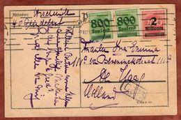 Karte, Ziffer Mit Aufdruck, Hamburg Nach Den Haag 1923 (90215) - Germany