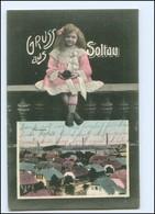 U9347/ Gruß Aus Soltau Schöne AK Mädchen 1909 - Allemagne