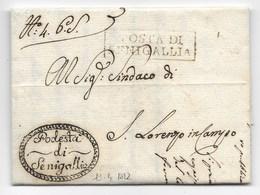 PERIODO NAPOLEONICO - DA SENIGALLIA A S.LORENZO IN CAMPO - 13.4.1812. - Italia