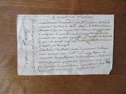 17 AOUT 1750 G.DE POITIERS HUIT  DEN. MANUSCRIT M. JACQUES CAILLAUD PROCUREUR DE MESSIRE CLAUDE ALEXIS DELABARRE L - Cachets Généralité