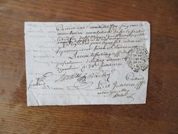 28 JUILLET 1750 G.DE POITIERS HUIT  DEN. CLAUDE ALEXIS DELABARRE LONDIERE CHEVALIER SEIGNEUR DUPUY DORE ET DAME LE - Cachets Généralité